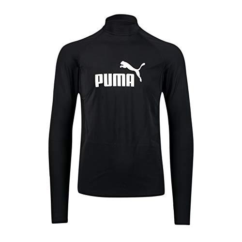 PUMA Herren Long Sleeve Rash-Guard-Shirt, Schwarz, L