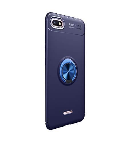 Funda Xiaomi Redmi 6/6A (2018) Teléfono Móvil Silicona Bumper Case Funda con Anillo Giratorio de 360 Grados Rotaria Ring Holder Protectora Caso (3, Xiaomi Redmi 6)