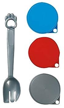 FLAMINGO 504358 - 3 couvercles de boite et cuillère 7,5 cm