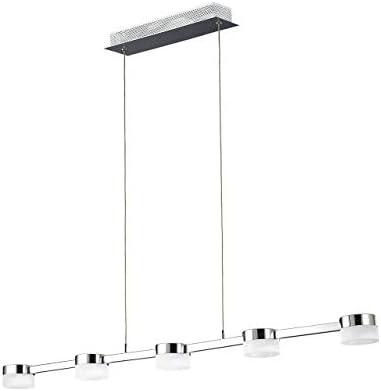 WOFI Pendelleuchte, 5-flammig, Serie Logan, 5 x LED, 4.2 W, Breite 7 cm, Tiefe 93 cm, Abhängung 150
