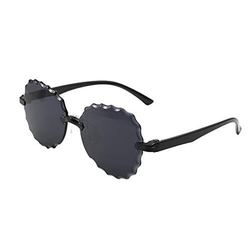 Janly Clearance Sale Gafas de sol para mujer, sin marco, con forma multilateral, de una pieza, de gelatina, multicolor, unisex, para el verano