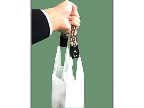 [MORESMART]ショッピングバンド(くまモンVer.)~レジ袋等の持ち手をつなげると、肩掛けカバンにもなり、手や指が痛くならないバンドのくまモンバージョン~クリップ付き持ち手(赤)