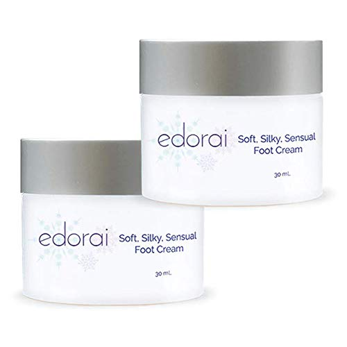 Edorai Soft, Silky Sensual Foot Cream. Best Natural Foot Cream for Women. For dry cracked feet, dry cracked heels, calluses, sore feet; foot cream for pain relief. Diabetic foot cream.