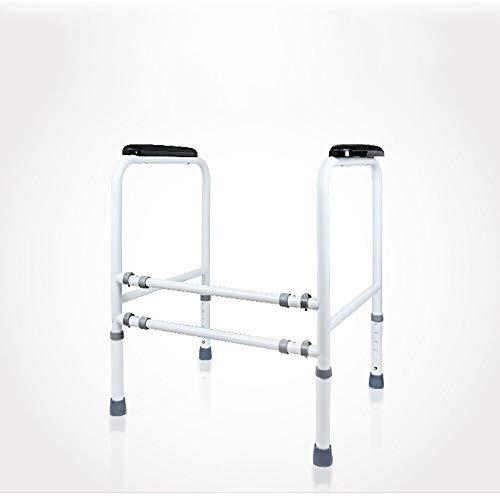 Estructura de apoyo para inodoro Barandilla de seguridad for WC estabilización Pasamanos, apoyabrazos de seguridad con el apoyo de baño, apoyabrazos del asiento de apoyo for personas especiales (acero