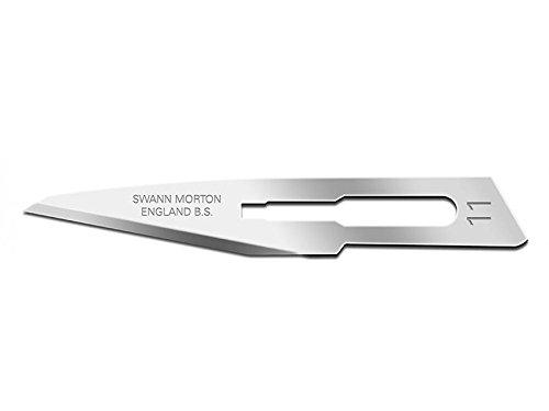 Swann-Morton 22401 Lame Bisturi con S, N. 11, Sterili, Confezione da 100