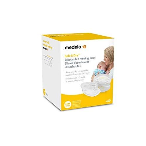 Medela 0080323–Pack di 60Coppette assorbilatte monouso per pérdidas di latte, colore: bianco/giallo