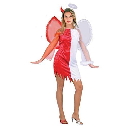 Ciao-Costume Angeli & Demoni, taglia unica adulto Donna, Rosso,bianco, 62153