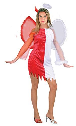 Ciao-Costume Angeli & Demoni, taglia unica adulto Disfraces, color rosso,bianco, (62153)