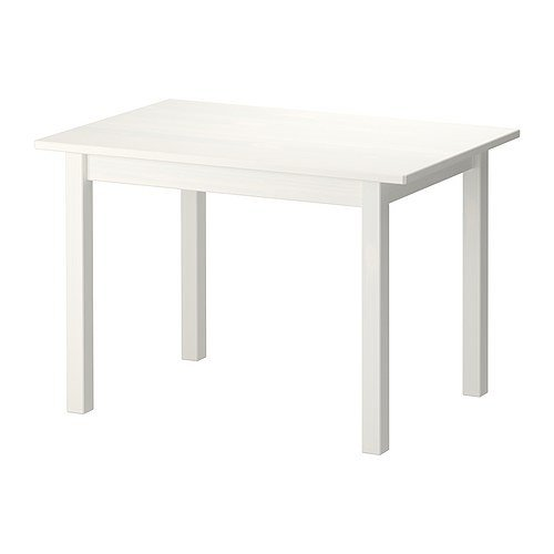IKEA SUNDVIK Kindertisch in weiß; aus massiver Kiefer; (76x50cm)