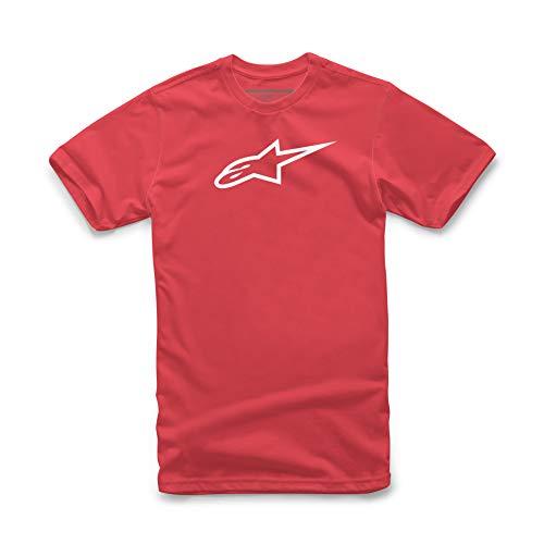 Alpinestars Ageless Classic tee Camisa, Rojo (Red/White), Small para Hombre