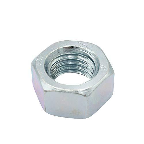 D2D | VPE: 50 Stück - Sechskantmuttern - Größe: M12 - DIN 934 / ISO 4032 - galvanisch verzinkt Güteklasse 8 | Sechskant-Mutter