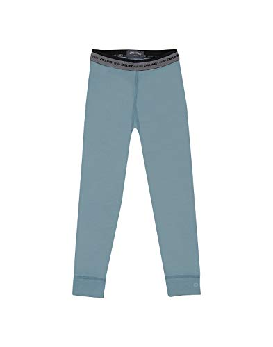 Dilling Dilling Kinder Leggings aus 100% Merinowolle Mineralblau 134-140