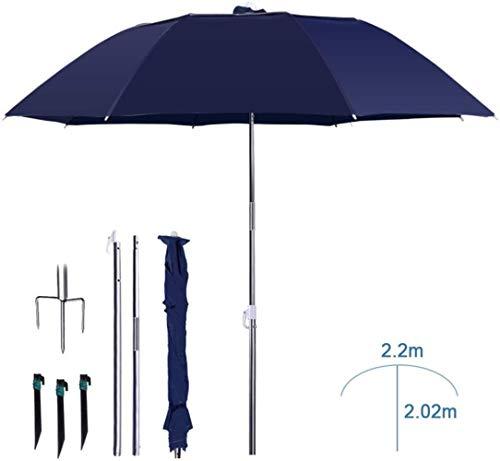 Sonnenschirme Sonnenschirm, Sonnenschirm beweglicher Sonnenschutz Regenschirm | Schwenkbarer/UV Schutz / 3 Folding - Einsatz in Garten/Stränden (Color : Black, Size : B)