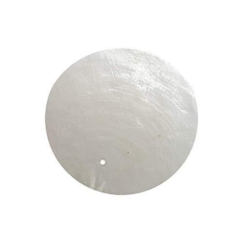 VIE Naturals Capiz-Muschelscheiben, 5 cm Durchmesser, mit 2 Löchern, 45 Stück (weiß)