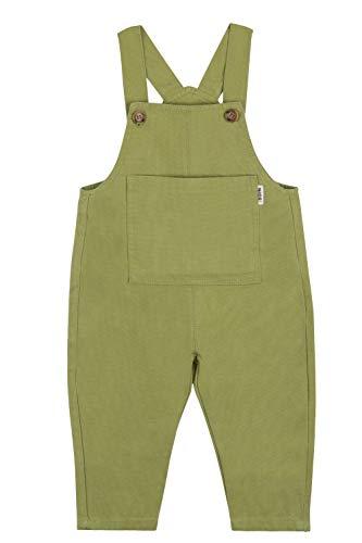 Camilife Baby Jungen Mädchen Denim Overall Jeans Hose mit Hosenträger Kinder Baumwolle Latzhose Bonbon Farben Süß Lieblich für Baby 1-4 Jahres alt - Grün Größe 80