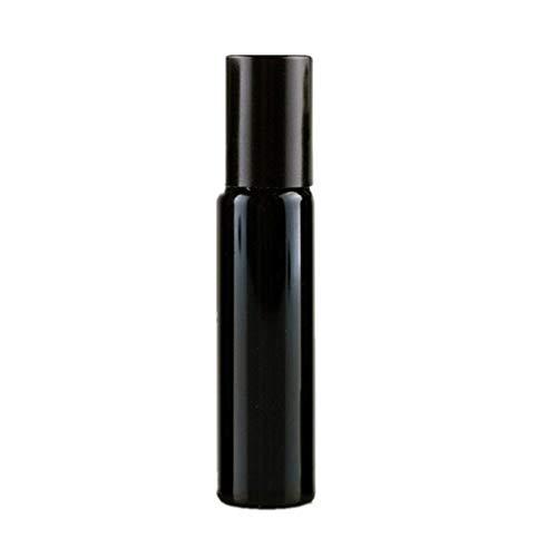 Botella Roll-on De Aceite Esencial Crema para Ojos Muestra Subenvasada Botella Vacía Portátil Mini Roll-on Botella con Rodillo De Acero Inoxidable Black