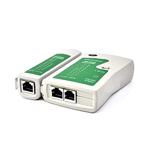 Sanfiyya Línea de Red Ethernet LAN Cable Tester RJ45 RJ11 Cat 5 N21CL Herramienta de Internet de Banda Ancha de Velocidad de conexión de Instrucciones Prueba de Capacidad Incluyó