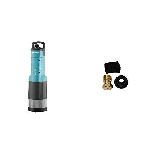 GARDENA Comfort Tauch-Druckpumpe 6000/5 automatic: Tauchpumpe mit 6.000 l/h Fördermenge & Sprinklersystem Entwässerungsventil, Zubehör für T-Stück 25 mm x 3/4 Zoll Innengewinde