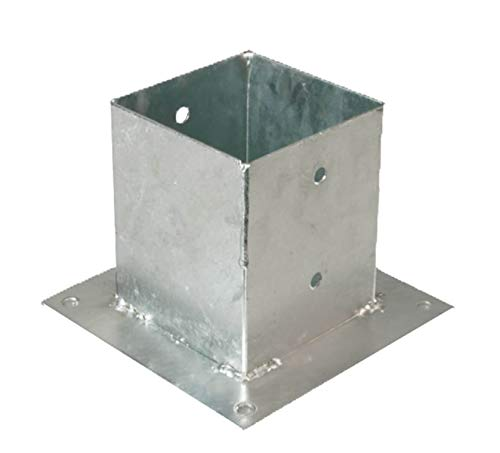 GAH-Alberts 217679 Skruvhylsa | för runda eller fyrkantiga trästolpar | varmförzinkad | 121 x 121 mm