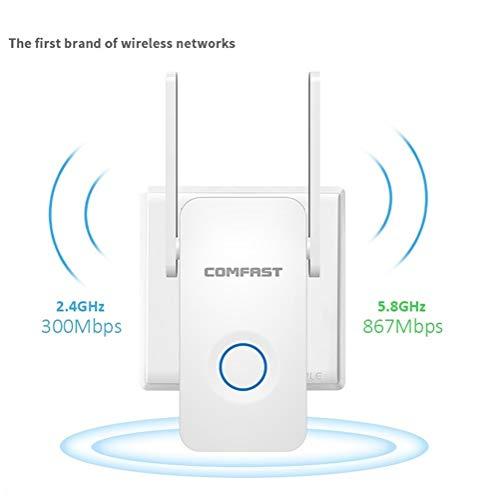 HAIYOUSHANGMAO WiFi Booster Repetidor Wi-Fi De 1200Mbps 802.11ac Amplificador De Señal WiFi Enrutador Inalámbrico Extensor De Rango Wi-Fi Expandir