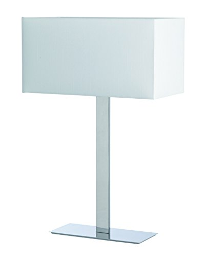 Kos lighting 400013703 Bianka Lampe Acier/Toile de coton Blanc 52 x 44,5 x 25,5 cm