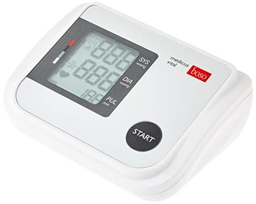 boso medicus vital – Vollautomatisches Oberarm-Blutdruckmessgerät mit großem Display und Arrhythmie-Erkennung – Inkl. Blutdruckmanschette (22-42cm)