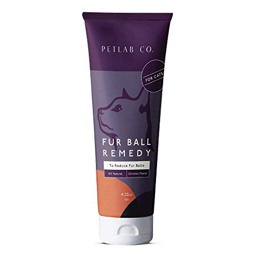 Petlab Co. Fur Ball Remedy | Cat Hairball Health ChickenFlavorPaste, Promotes Healthy Skin, and Coat | Soybean Oil, Vitamin E, Cod Liver Oil, and Rosemary Extract