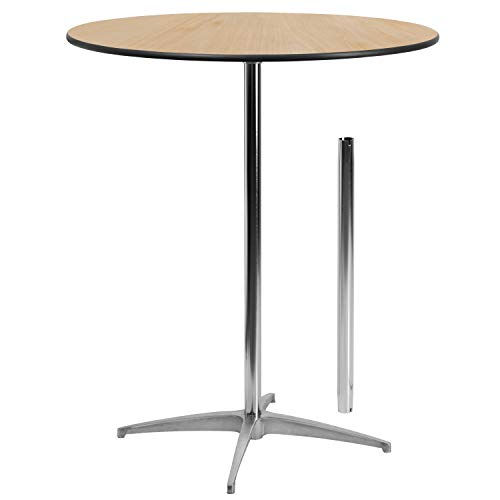 Flash Furniture 36'' Round Wood Cocktail Table with 30'' and 42'' Columns - XA-36-COTA-GG