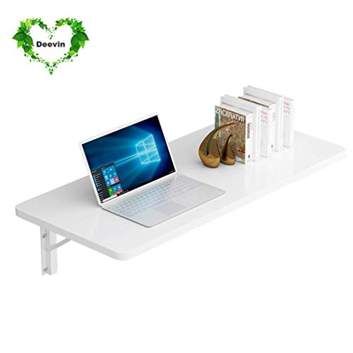 KAISIMYS Mesa de Pared Plegable, Escritorio de Mesa abatible montado en la Pared, Escritorio de computadora Plegable de Mesa de Aprendizaje, 11 tamaños