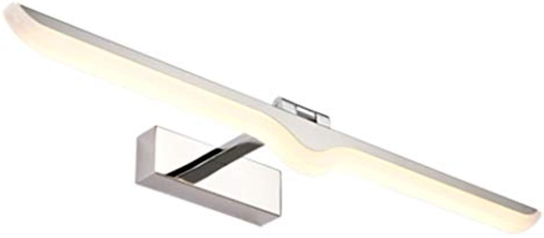 Spiegelfrontleuchte Edelstahl LED Bad Bad Wandleuchte Einfache moderne wasserdichte Spiegelschrankbeleuchtung (ausgabe   Warmes licht-42cm)