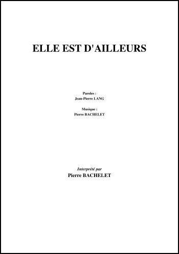 ELLE EST D\'AILLEURS