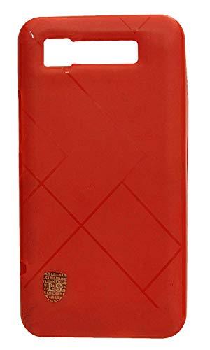 FCS® Intex Aqua 3G Designer Back Cover | Intex Aqua 3G Back Cover | Premium Soft Silicone Back Cover for Intex Aqua 3G (Red)