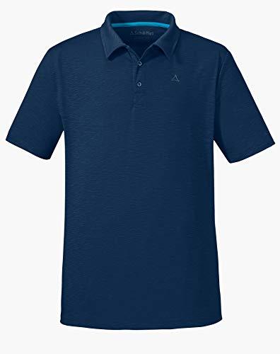Schöffel Damen Polo Shirt Izmir1 bequemes und leichtes Polohemd aus 2-Wege-Stretch, atmungsaktives Funktionsshirt mit Sonnenschutzfaktor, dress blues, 54