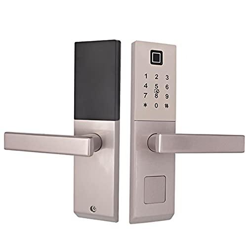 Cerradura de puerta de huella digital inteligente Tarjeta de contraseña Cerradura de puerta de seguridad Cerradura de puerta inteligente Cerradura de puerta de seguridad para hotel para