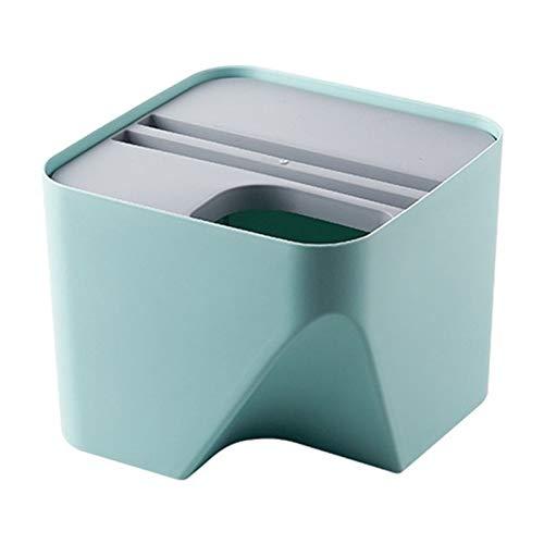 JGB-SNHSX Keuken prullenbak Stacked sorteren prullenbak Recycling Bin Household droog en nat afvalscheiding Bin vuilnisbak for badkamer (Color : Blue-A)