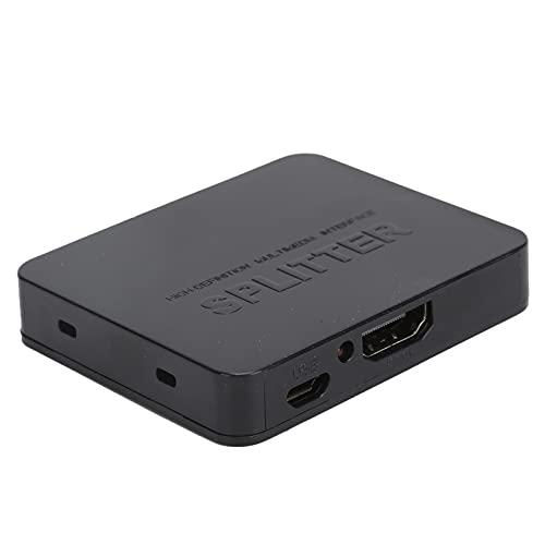 Convertidor Adaptador HDMI 1 en 2 Salidas Divisor de interfaz multimedia HD 3840 x 2160 / 30Hz para Duplicado/Amplificador de espejo Monitores duales 4K 1080P 3D DTS-HD SD/HD