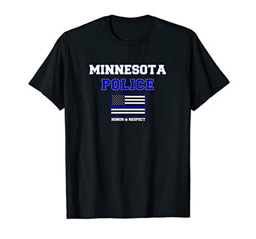 Minnesota Police Dad dünne blaue Linie USA Flagge T-Shirt