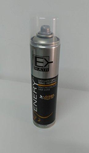 Enery - Spray lucidante per capelli termo protettivo con estratti di olio di Argan bio (400ml)