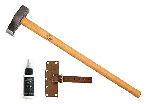 1844 Helko Werk Germany Traditional Splitting Maul - Wood Splitter Axe Head Wood Splitting Axe...