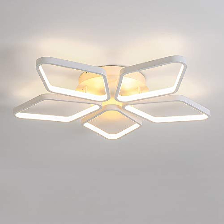 White Diamond LED Light Ceiling Lamp Chandelier Lighting Fixture 21  Wide 21  Deep 4  High, Warm White 3000K