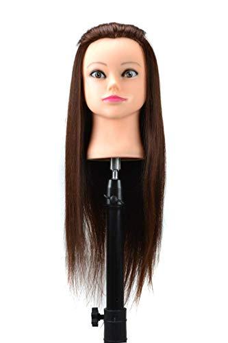 pruiken Humanoïde haartraining hoofd kan warm en oprolbaar zijn om hoofdmodel styling haar hoofd model plaat haar make-up pruik hoofd model te oefenen