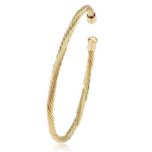 AT Jewellery - 18 Karat Gold gefülltes Stretch-Armband Armreif