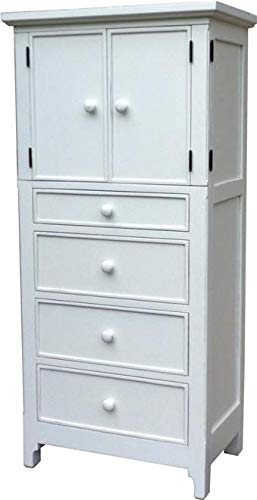 Check Out This Trade Winds Chesapeake Door Chest Tall White Black Mahogany Frame 4 -Dra