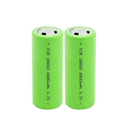 HIWASH 2pcs 3.7v 8800mah Li-Ion 26650 Batería Recargable, para Linterna Led Walkie-Talkie MicróFono Modelo De Avión Controlador De Juego Juguete De Control Remoto