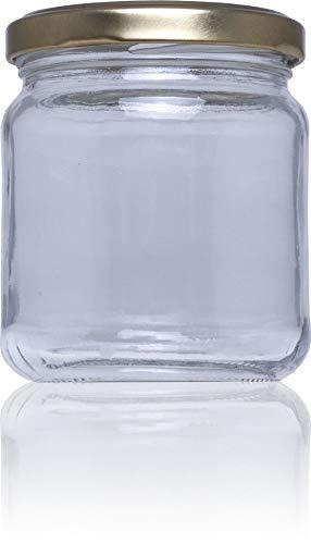 Tapas y Envases Rioja S.L Frasco de Vidrio conservas Std 212 ml Bajo, Transparente