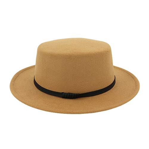 Cocoty-Store,2019 Sombrero de Paja Anti-Sol Sombrero de Jazz Anti-UV Amantes del Sombrero de Paja para Las Nuevas Maneras de la Moda del Verano,1Pcs Caqui