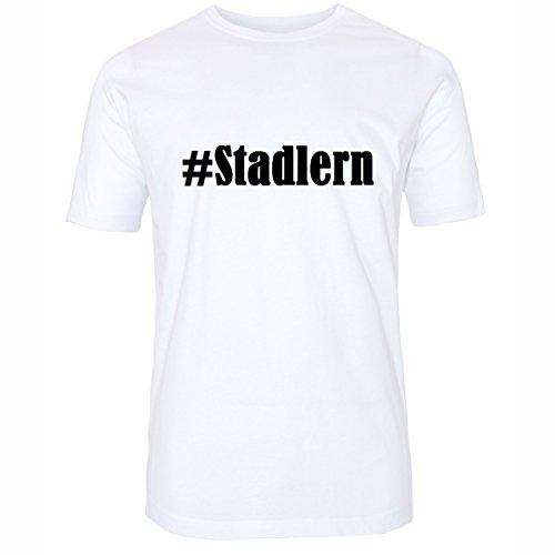 T-Shirt #Stadlern Größe 4XL Farbe Weiss Druck schwarz