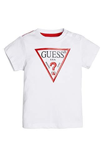 Guess T-Shirt 0mesi/24mesi Logo Rosso Bianco