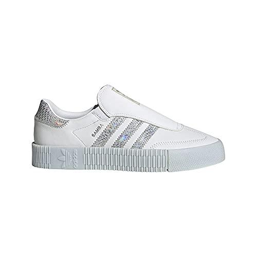adidas SAMBAROSE Eazy W, Zapatillas Deportivas Mujer, FTWR White Supplier Colour Halo Blue, 44 EU