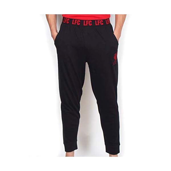 Liverpool FC Official Football Gift Mens Premium Long Pajamas Set